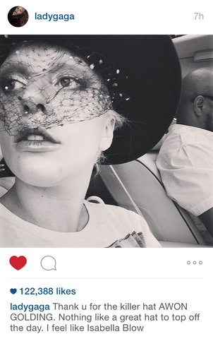 Lady Gaga wears Viola from AW15