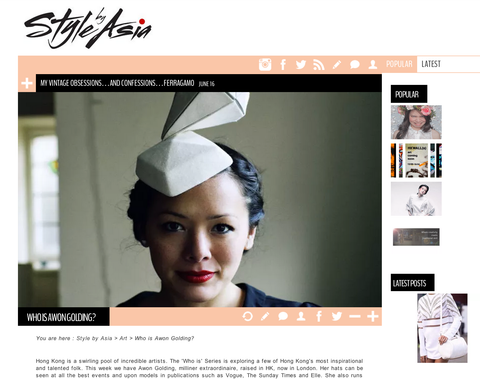 "PRESS: ""Who is Awon Golding?"" on StyleByAsia.com"