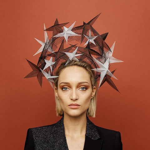Starburst Headpiece - Awon Golding Millinery Bridal