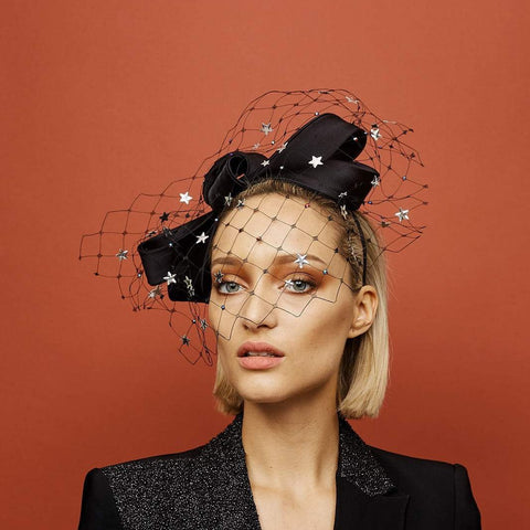 Pulsar Headpiece - Awon Golding Millinery