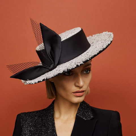 Luna Boater - Awon Golding Millinery