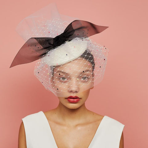 Lumi - Veiled Beret by Awon Golding Millinery