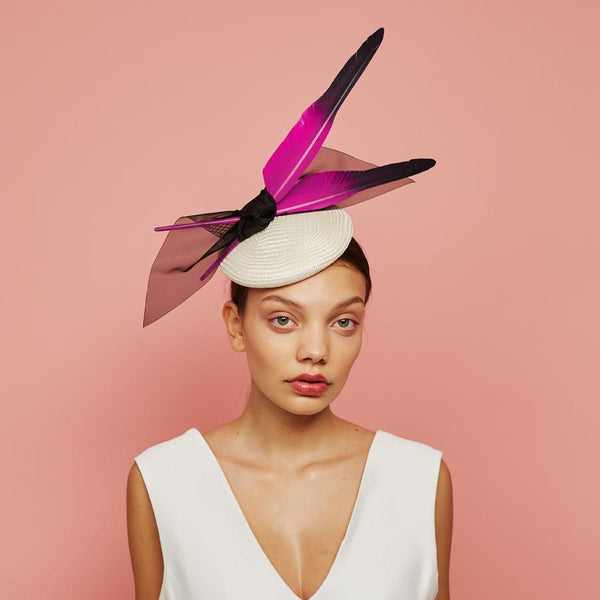 Shard cocktail hat - Awon Golding Milinery