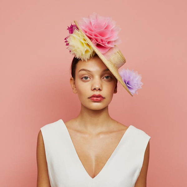 Peri boater - Awon Golding Millinery