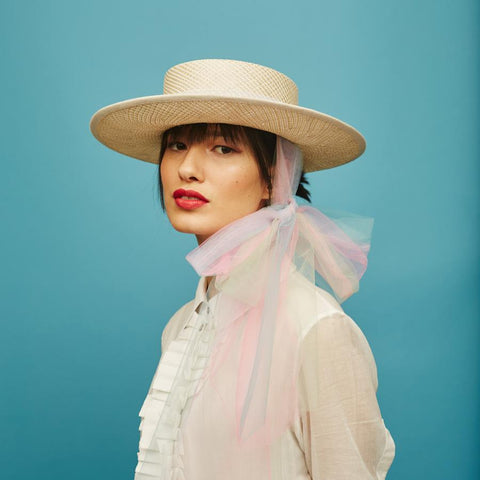 Picnic boater - Awon Golding Millinery