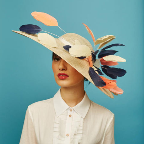 Peppy east-west hat - Awon Golding Millinery
