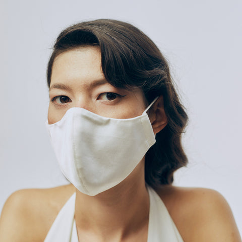 Plain Bridal Face Mask