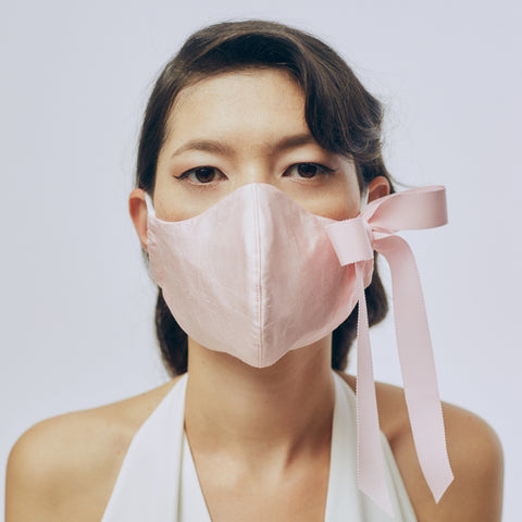 Silk Face Mask - Light Pink