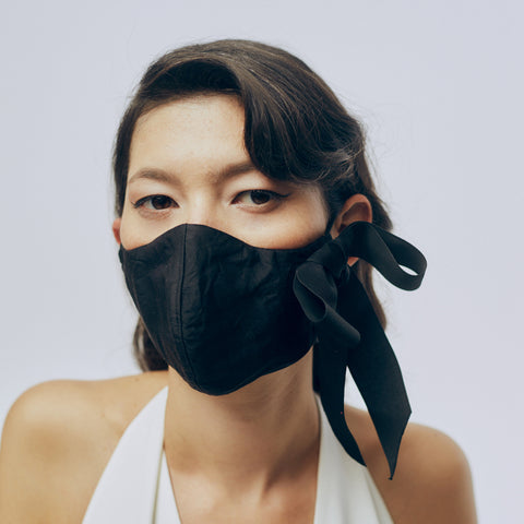 Silk Face Mask - Black