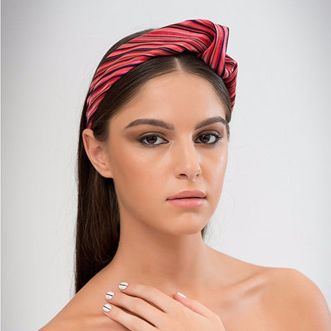 Ao - This structured turban headband is made from delicate silk woven fabric and is a flattering addition to either a casual or dressy outfit.