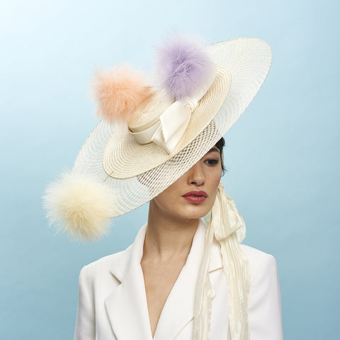 Dreamlover Boater - Awon Golding Millinery