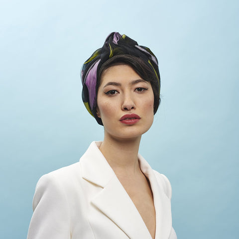 Tear Drop Turban - Awon Golding Millinery