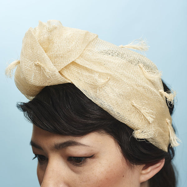 Baby Love Headband Natural - Awon Golding Millinery