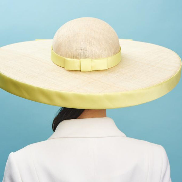 Spanish Harlem Hat Yellow - Awon Golding Millinery