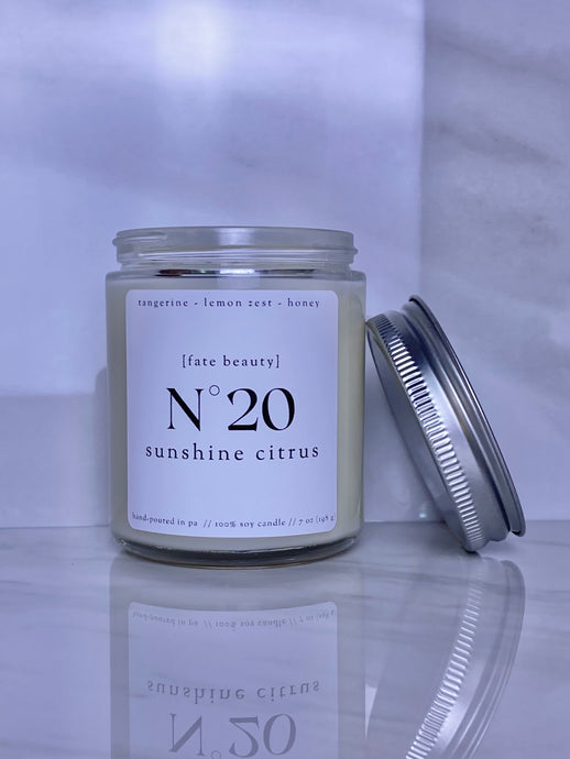 Sunshine Citrus Classic Candle - FATE Beauty