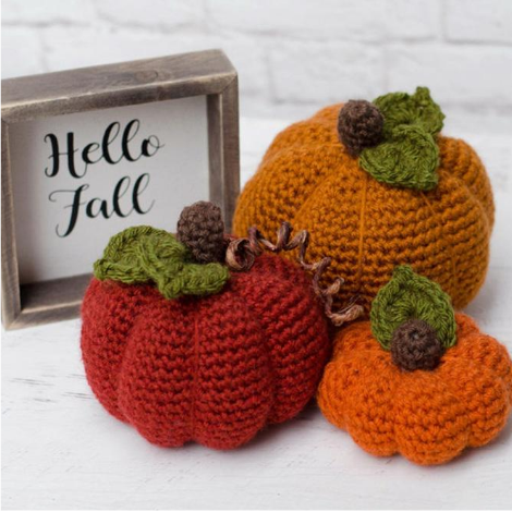 Pumpkins in 3 Sizes Pattern