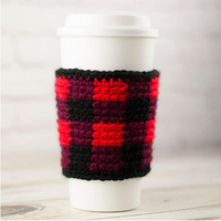 Buffalo Plaid Cup Cozy Pattern