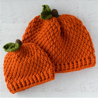Pumpkin Hat Pattern in All Sizes
