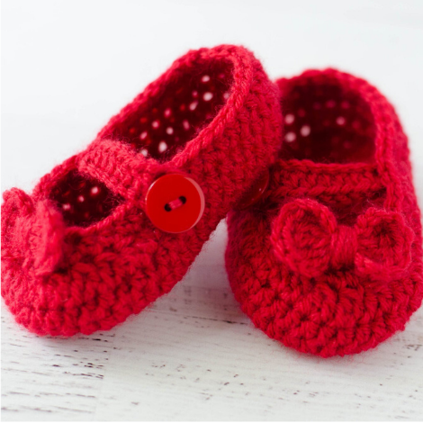 Mary Jane Baby Booties Pattern