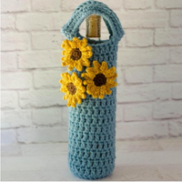 Sunflower Wine Cozy Pattern