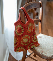 Happy Hexagon Crochet Tote Bag