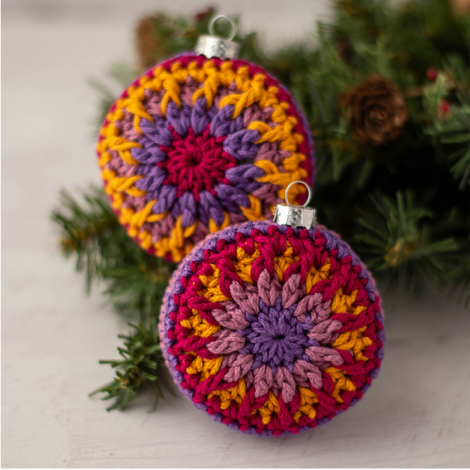 Vintage Vibe Crochet Ornament