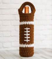 Football Wine Cozy Pattern