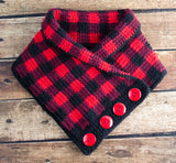 Buffalo Plaid Cowl Pattern