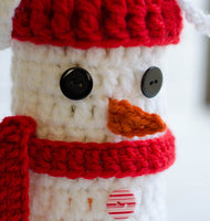 Snowman Wine Cozy Pattern