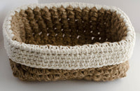 Rectangle Jute Basket Pattern