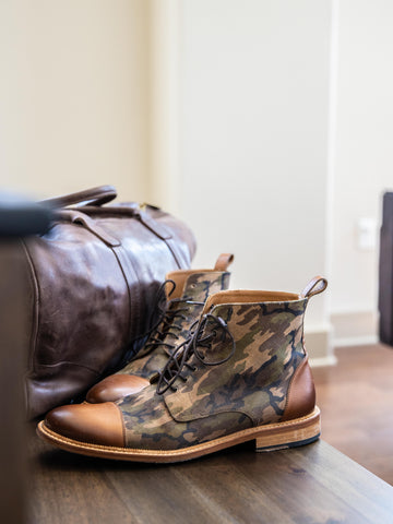 photo of troy boot in camo