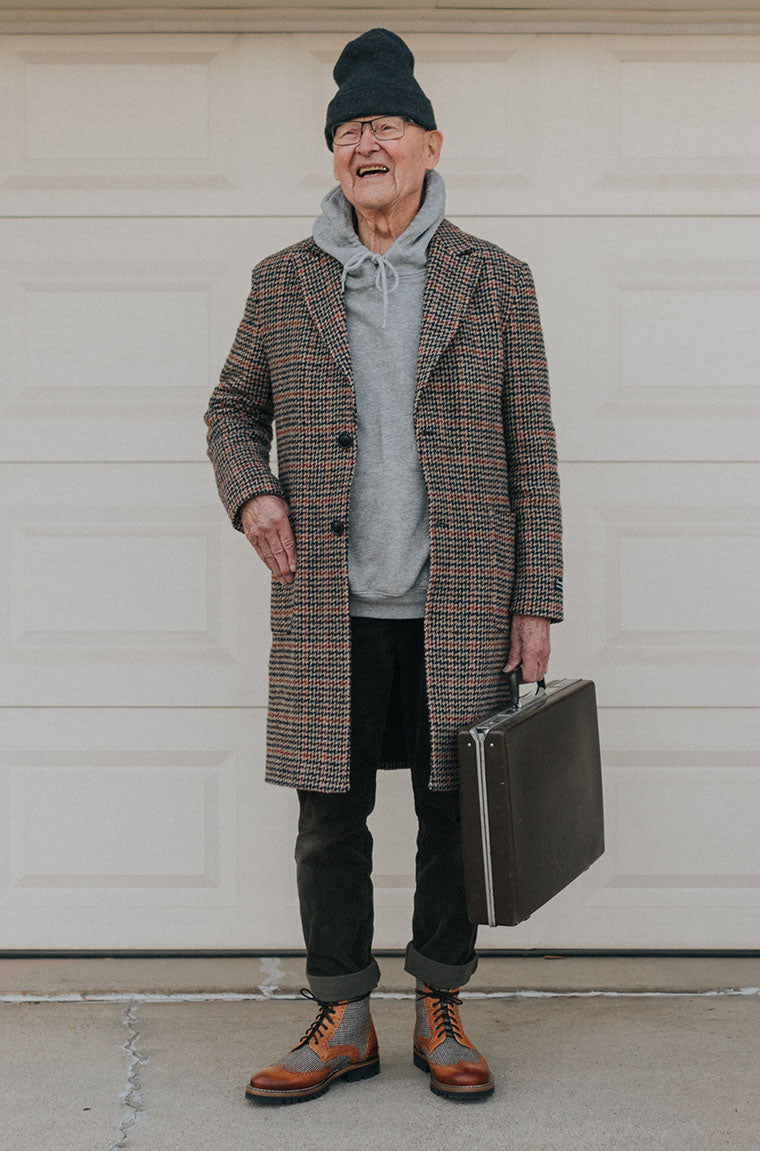 grandpa holt wearing the holt boot in honey