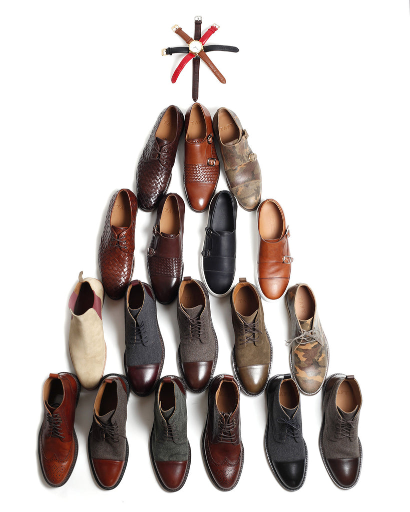 Christmas tree built from TAFT shoes