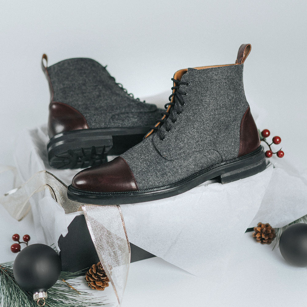 jack boot grey oxblood