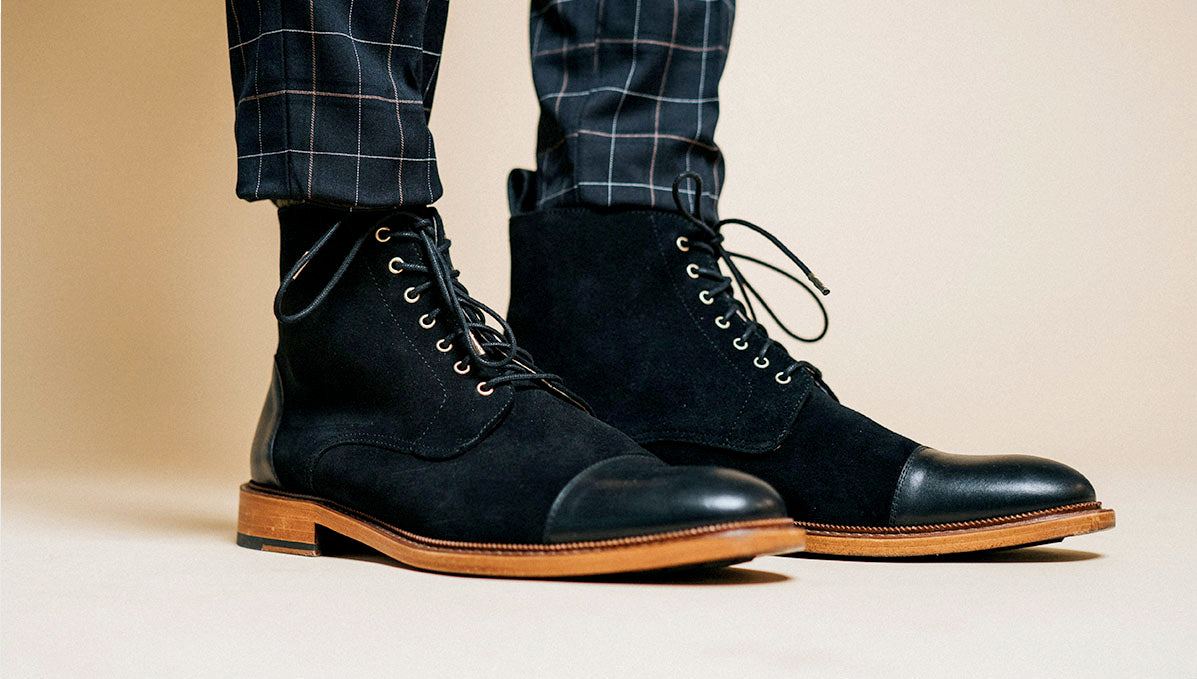 troy boot in black