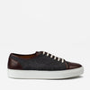 Side profile of Jack Sneaker in Grey Oxblood