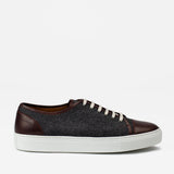 The Jack Sneaker in Grey/Oxblood