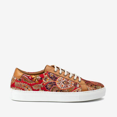 The Sneaker in Red Paisley Side