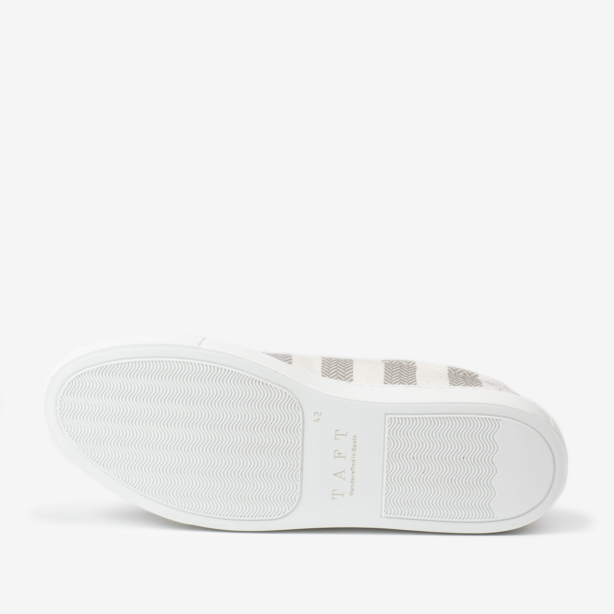 The Sneaker in Grey Stripes Sole