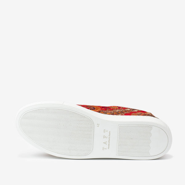 The Sneaker in Red Paisley Sole
