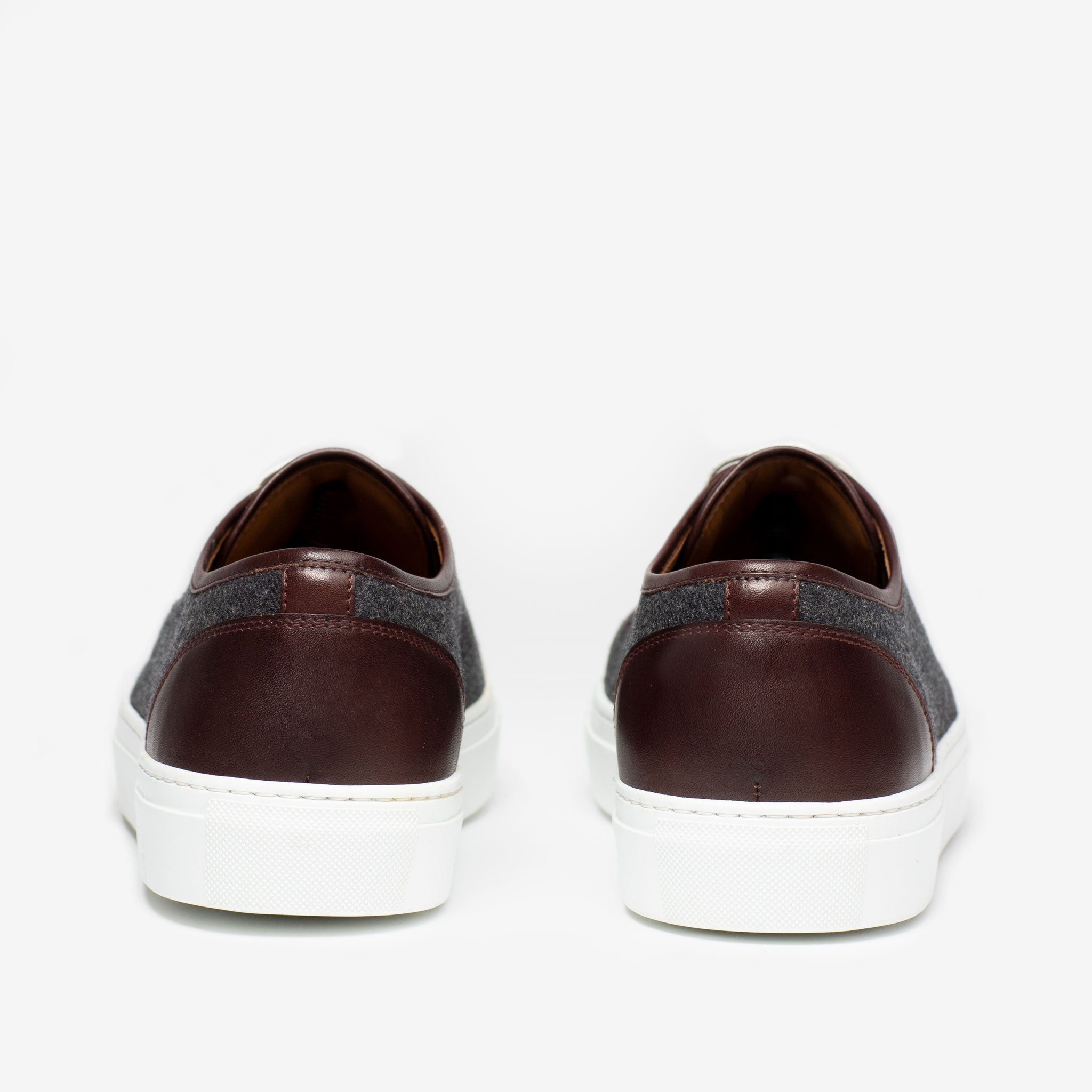 Heels Jack Sneaker in Grey Oxblood
