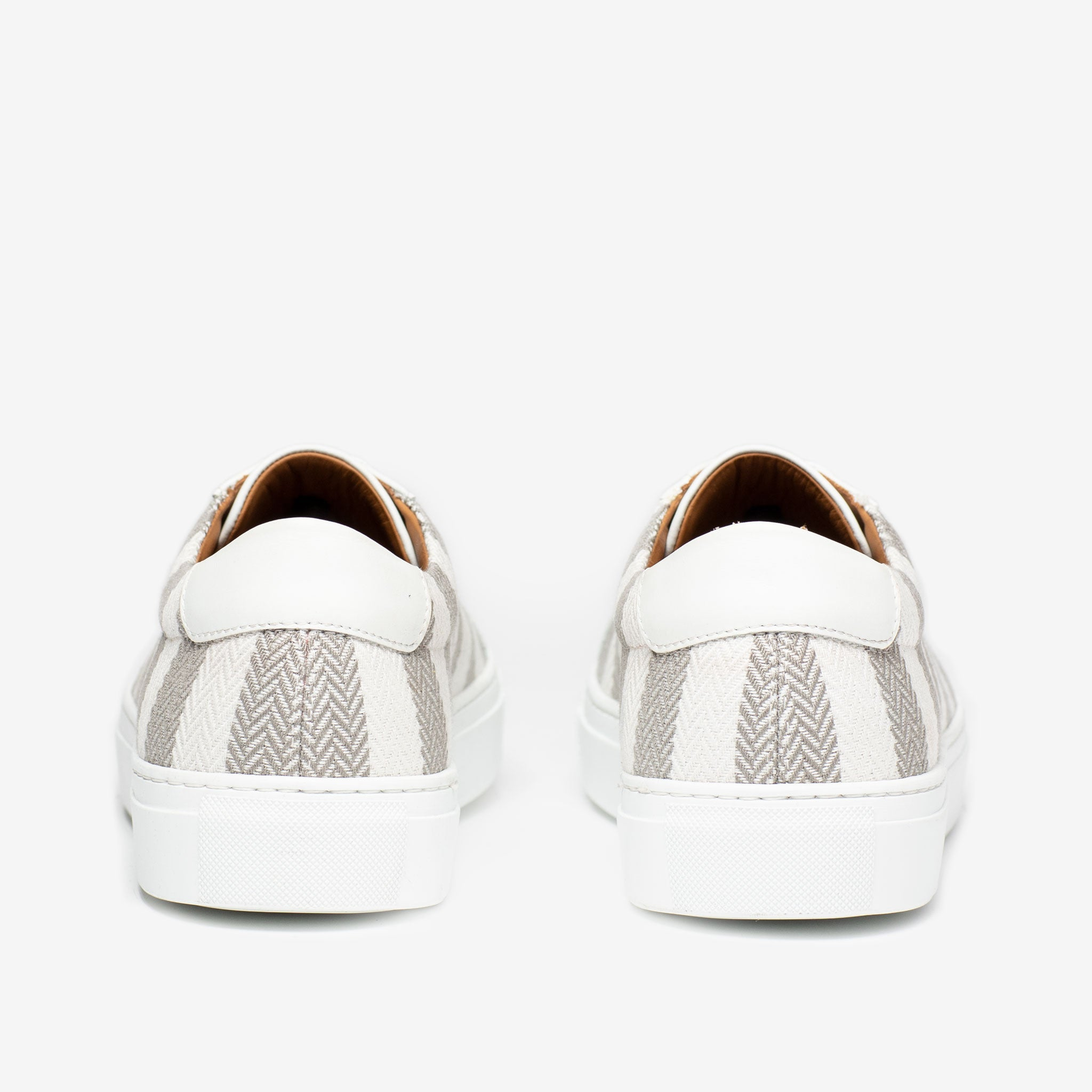 The Sneaker in Grey Stripes Heels
