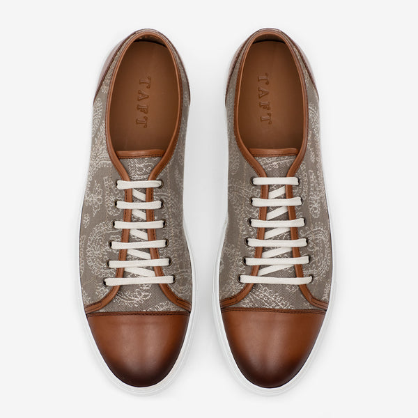 The Jack Sneaker in Taupe Paisley Overview