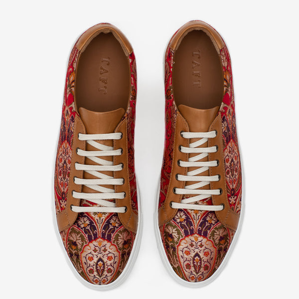 The Sneaker in Red Paisley Overhead