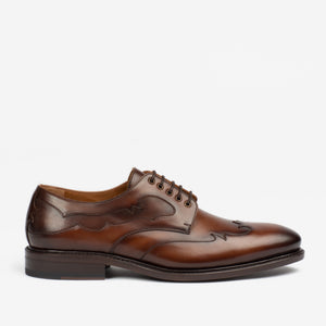 CLINT SHOE IN CHOCOLATE SIDE