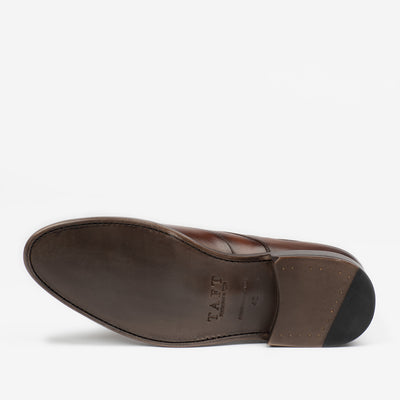 CLINT SHOE IN CHOCOLATE SOLE