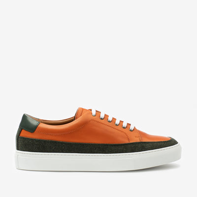 Fifth Ave Sneaker in Orange Side