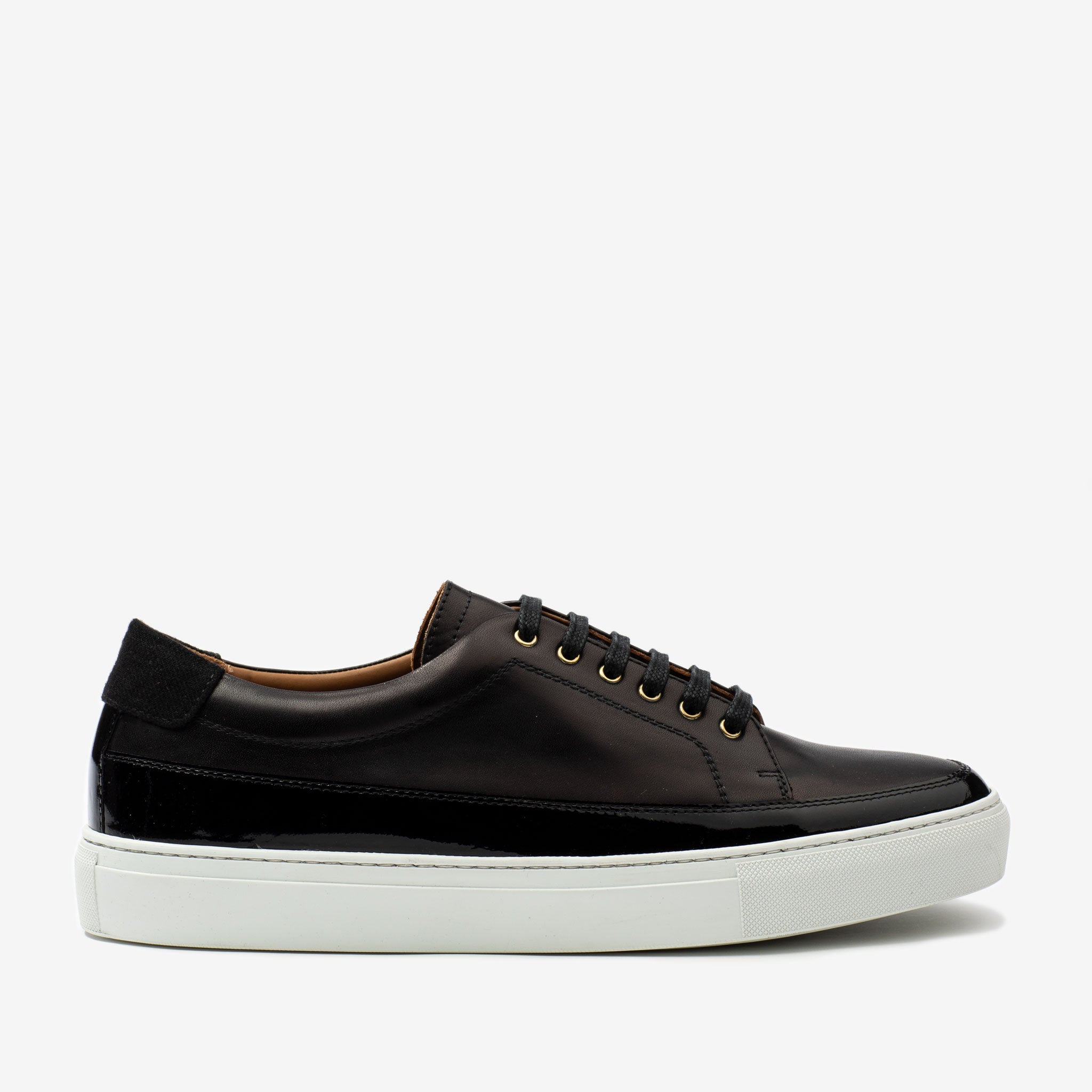 Fifth Ave Sneaker in Black Side Profile