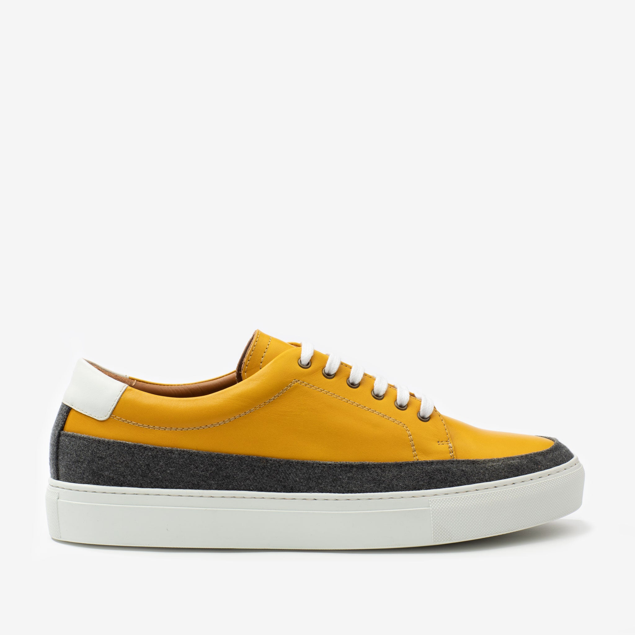 Fifth Ave Sneaker in Yellow Side