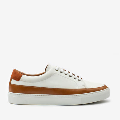 Fifth Ave Sneaker in White Side